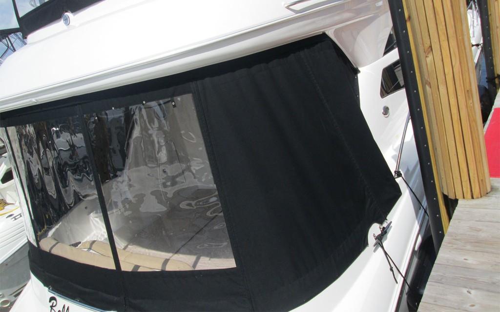 Custom Bimini Tops Black Sams Canvas